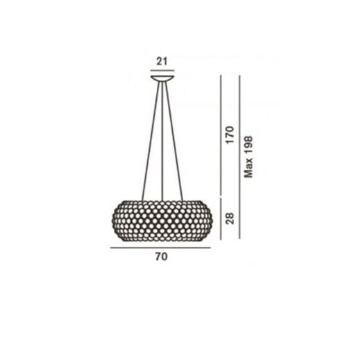 Foscarini Caboche Plus LED hanglamp-Transparant-Grande