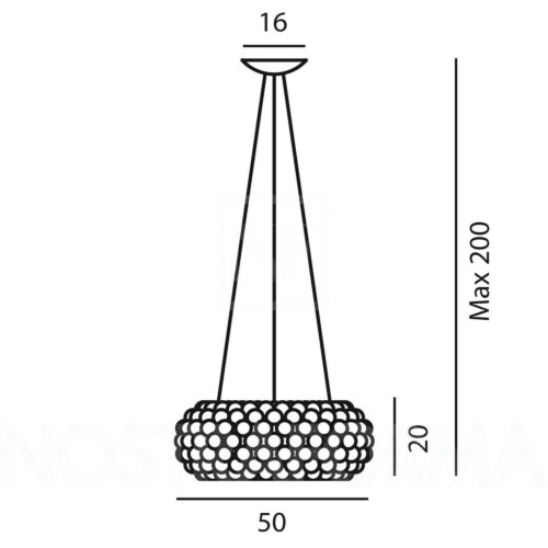 Foscarini Caboche MyLight LED hanglamp-Transparant-Media