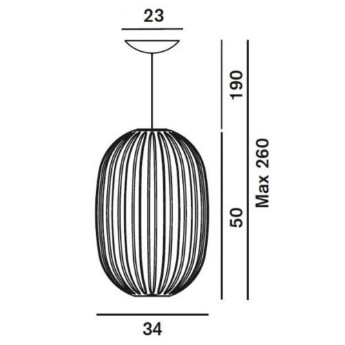 Foscarini hanglamp Plass-Blauw-Media