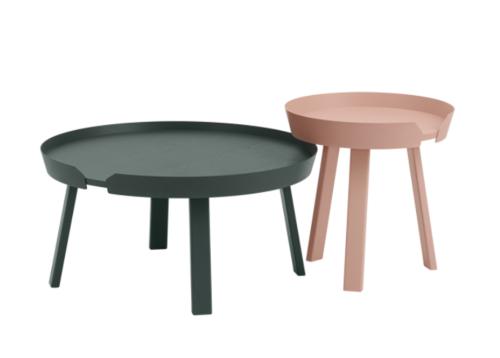 muuto Around coffee table large-Dark green