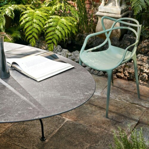 Kartell Glossy Outdoor tafel-Zwart-zwart-∅ 128 cm