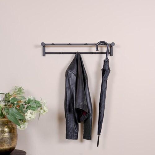 Spinder Design Suza 2 wandkapstok zwart