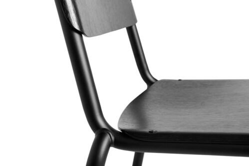 HAY Halftime stoel -Zwart water-based-Gepoedercoat Zwart