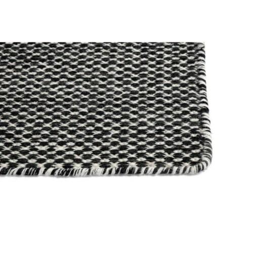 Hay Moiré vloerkleed-140x200 cm-Zwart