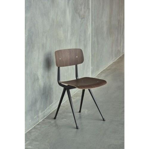 HAY Result stoel-Naturel zitting, zwart onderstel
