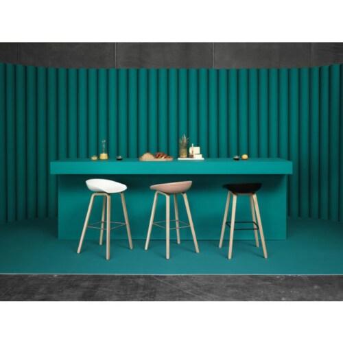 HAY About a Stool AAS32 barkruk mat gelakt onderstel-Zithoogte 65 cm-Grijs-groen