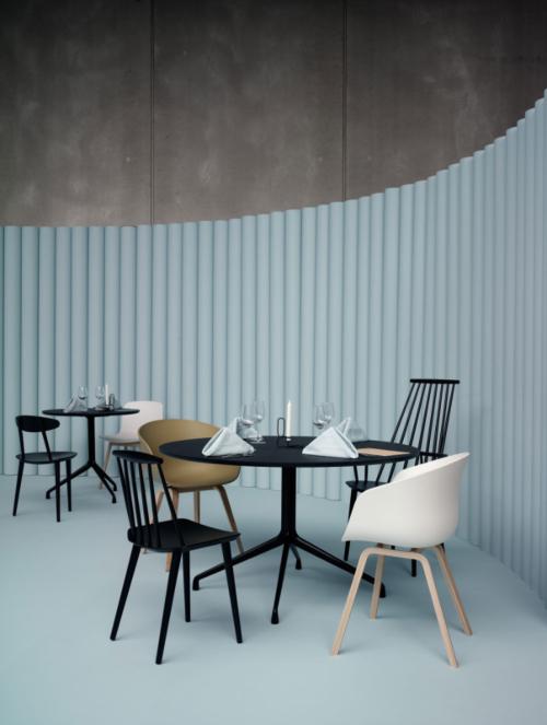 HAY About a Chair AAC22 stoel-Frame zwart-Zwart
