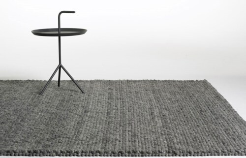 HAY Peas vloerkleed-Medium grey-80x140 cm