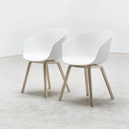 HAY About a Chair AAC22 stoel zeep onderstel-Pastel-groen