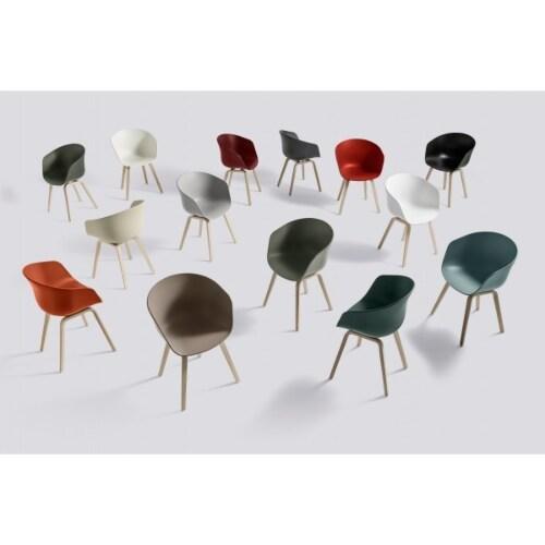 HAY About a Chair AAC22 stoel zeep onderstel-Licht grijs