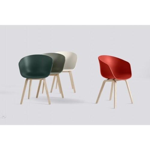 HAY About a Chair AAC22 stoel zeep onderstel-Grijs-groen