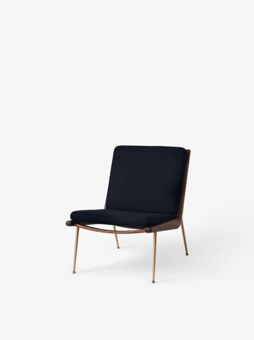 &tradition Boomerang HM2 fauteuil-Marine-Walnoot olie