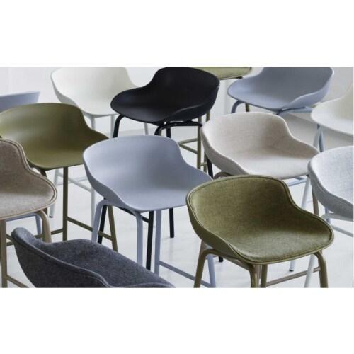 Normann Copenhagen Hyg barkruk full upholstery-Grijs-Zithoogte 65 cm