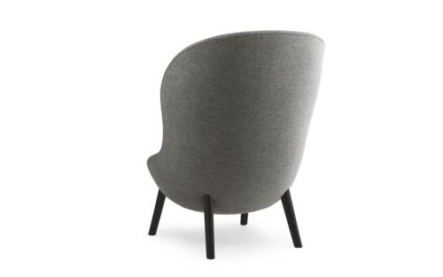 Normann Copenhagen Hyg High Oak fauteuil -Zwart