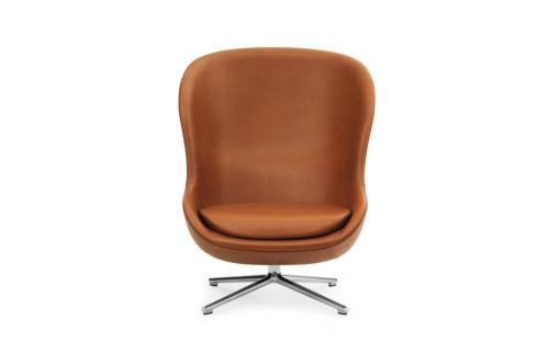 Normann Copenhagen Hyg High Swivel fauteuil -Cognac