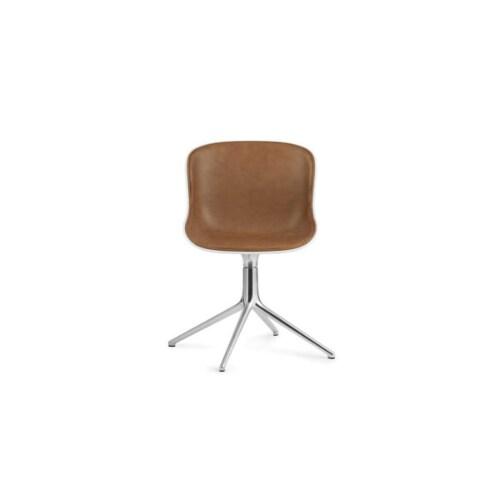 Normann Copenhagen Hyg Front Upholstery eetkamerstoel swivel onderstel -Wit