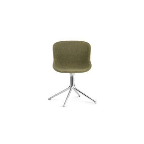 Normann Copenhagen Hyg Front Upholstery eetkamerstoel swivel onderstel -Olijf groen