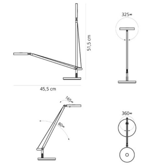 Artemide Demetra Micro bureaulamp-Antraciet grijs