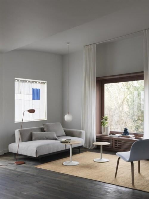 muuto Soft bijzettafel-Solid Oak/Off-White-48x48 cm (Øxh)