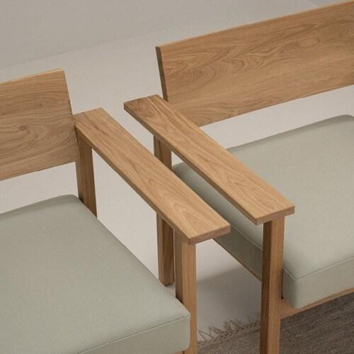 Studio HENK Base Lounge chair-Bordeaux 37-Hardwax oil light
