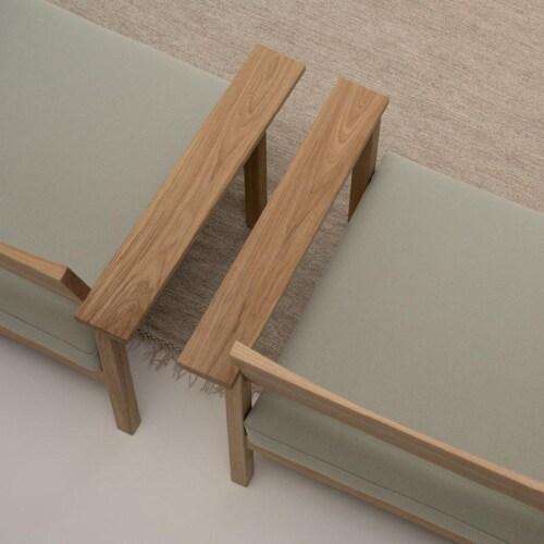Studio HENK Base Lounge chair-Multisand 9993-Hardwax oil light
