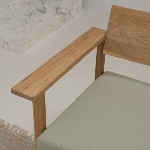 Studio HENK Base Lounge chair-Lightgrey 60-Hardwax oil natural