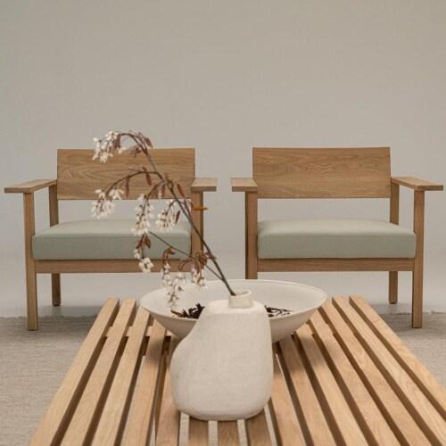 Studio HENK Elements Outdoor salontafel Iroko