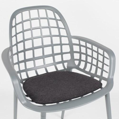 Zuiver Albert Kuip stoelkussen-Donker grijs