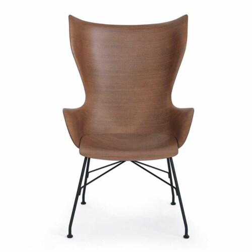 Kartell K/Wood stoel beuken-Donker hout-Zwart