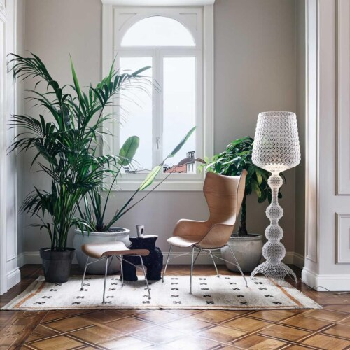 Kartell K/Wood stoel beuken-Licht hout-Chroom