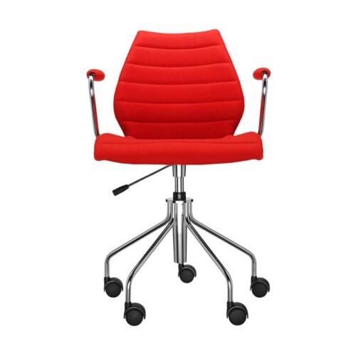 Kartell Maui Soft bureaustoel -Met armleuning-Rood