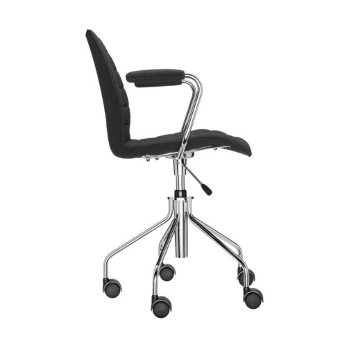 Kartell Maui Soft bureaustoel -Met armleuning-Zwart