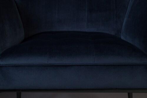 Dutchbone Kate stoel-Donker blauw