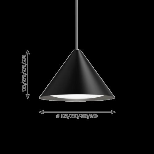 Louis Poulsen Keglen 175 LED hanglamp -Zwart