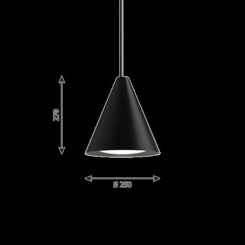 Louis Poulsen Keglen 250 LED hanglamp-Zwart