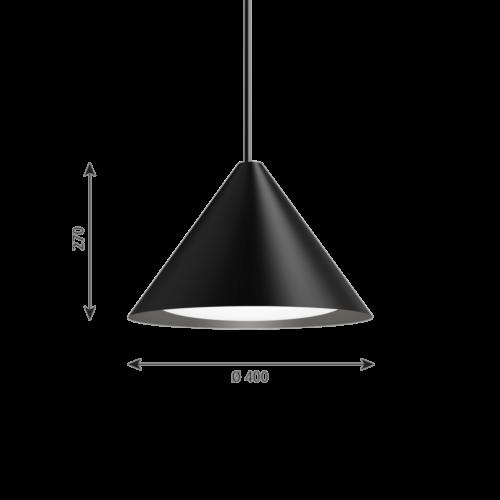 Louis Poulsen Keglen 400 LED hanglamp-Zwart