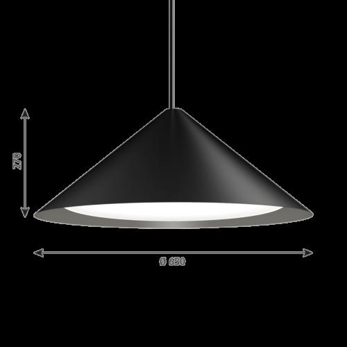 Louis Poulsen Keglen 650 LED hanglamp-Zwart