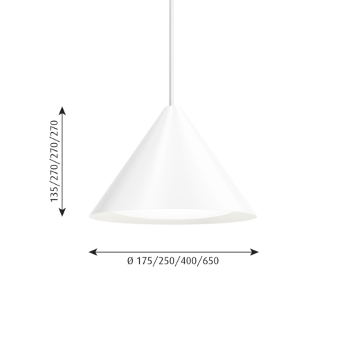 Louis Poulsen Keglen 250 LED hanglamp-Wit