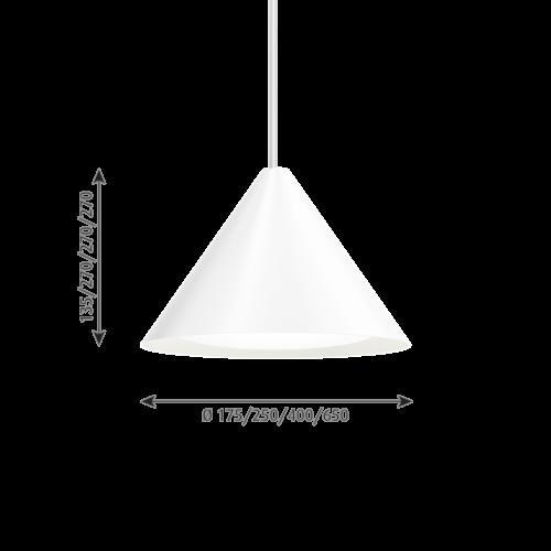 Louis Poulsen Keglen 650 LED hanglamp-Wit