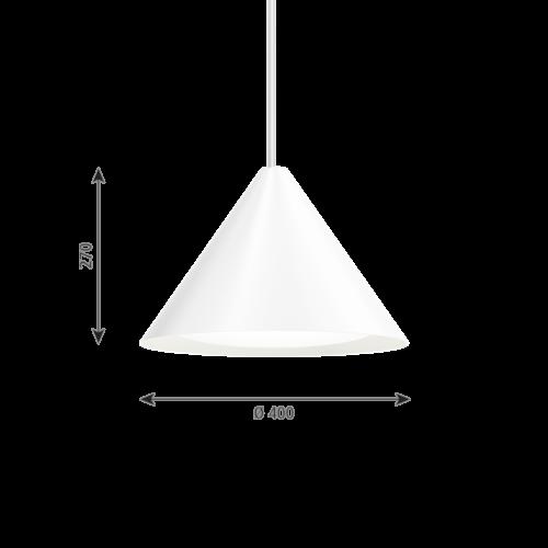 Louis Poulsen Keglen 400 LED hanglamp-Wit