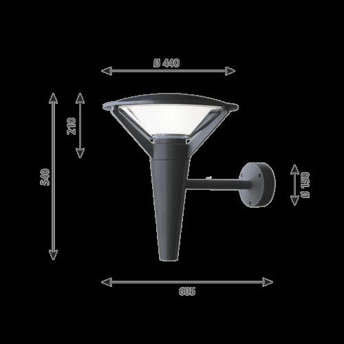 Louis Poulsen Kipp wandlamp-Grafiet