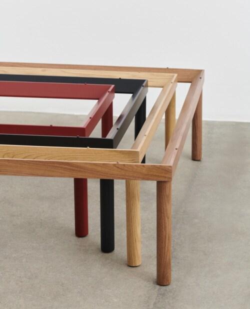 HAY Kofi salontafel 80x80 cm-Clear Glass-Walnoot