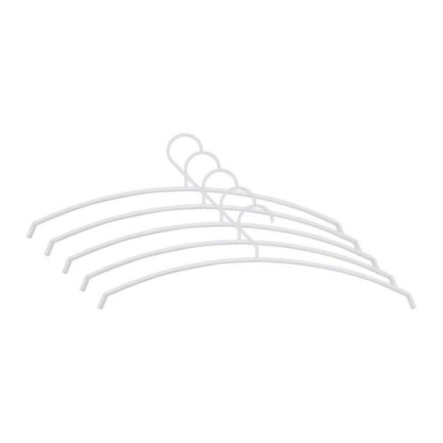 Spinder Design Silver kledinghanger (set van 5)-Wit