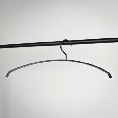 Spinder Design Silver kledinghanger (set van 5)-Zwart