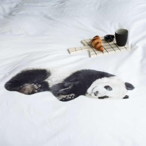 Snurk Lazy Panda dekbedovertrek-140x200/220 cm-Katoen