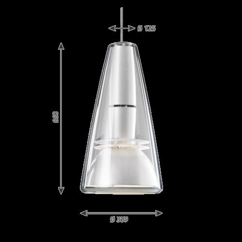 Louis Poulsen Charisma King hanglamp-Wit
