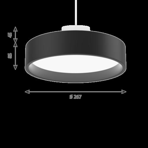 Louis Poulsen Circle Suspended hanglamp-Zwart-∅ 26 cm