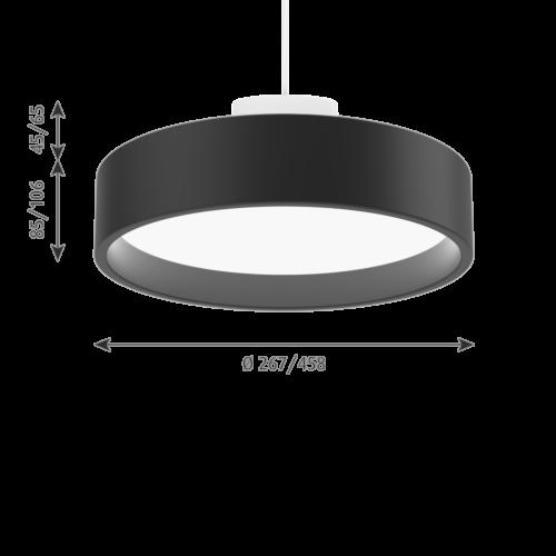Louis Poulsen Circle Suspended hanglamp-Zwart-∅ 45 cm