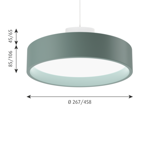 Louis Poulsen Circle Suspended hanglamp-Bleek petroleum-∅ 26 cm