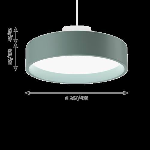 Louis Poulsen Circle Suspended hanglamp-Bleek petroleum-∅ 45 cm